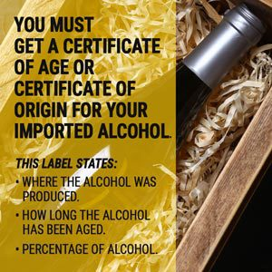imported alcohol