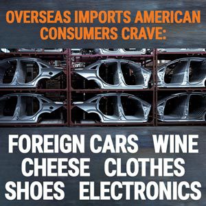 Overseas imports american consumers crave