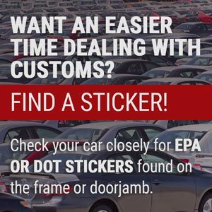 Check your card for EPA or DOT stickers
