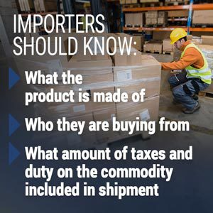 Information importers should know