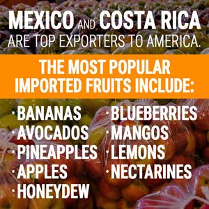 Mexico and Costa Rica are top exporters to America