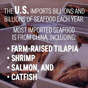 US imports billions of seafood each year
