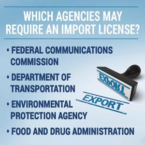 Which agencies may require an import license