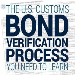 us customs bond verification process