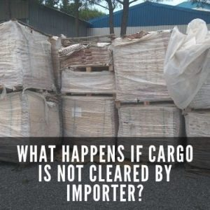 what happens if cargo is not cleared by importer