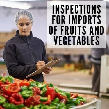 inspections for imports of fruits and vegetables