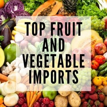 top fruit and vegetable imports