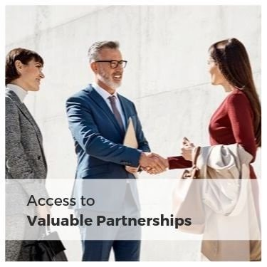 Access to valuable partnersh