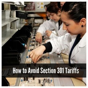 How to avoid section 301 tariffs
