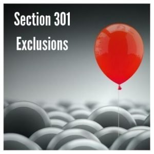 Section 301 Exclusions