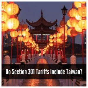 do section 301 tariffs include taiwan