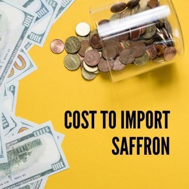Cost to Import Saffron