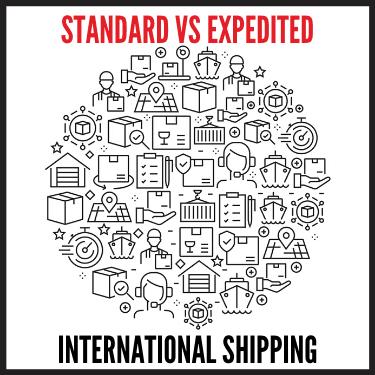 Standard vs Expedited International Shipping