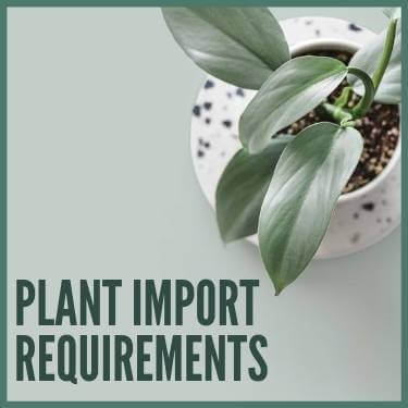 Plant Import Requirements