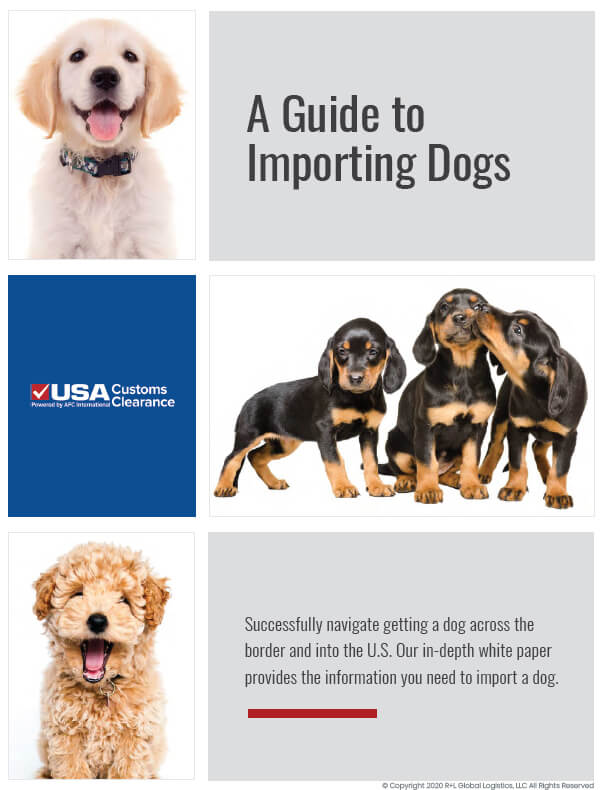 A Guide to Importing Dogs Cover Page