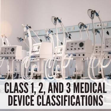 Class 1, 2, and 3 Medical Device Classifications