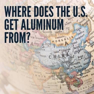 Where Does the U.S. Get Aluminum From