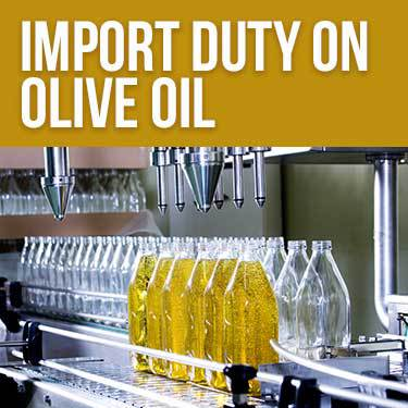 Import Duty on Olive Oil