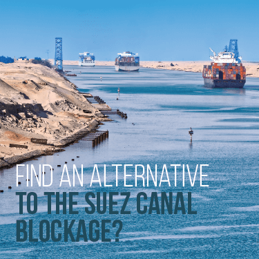 Find an alternative to the Suez Canal Blockage