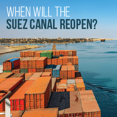 When will the Suez Canal reopen?